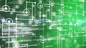 Fondo de la animación de la rejilla del circuito electrónico o del ordenador en concepto electrónico libre illustration