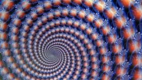 Fondo de la animación de los globos azules del fractal que tuerce en espiral stock de ilustración