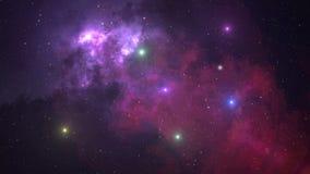 fondo de la animación del espacio 4K con la nebulosa almacen de video