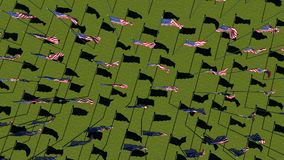 Fondo de la animación de los gráficos del movimiento de la bandera de los E.E.U.U. ilustración del vector