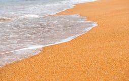 Fondo de la arena con la onda Imágenes de archivo libres de regalías