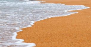 Fondo de la arena con la onda Fotos de archivo libres de regalías