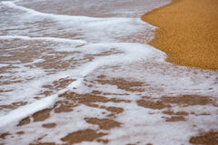 Fondo de la arena con la onda Fotografía de archivo
