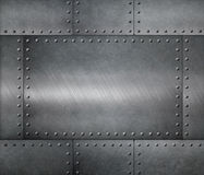 Fondo de la armadura de placas de acero del metal Fotos de archivo