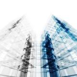 Fondo de la arquitectura de la construcción representación 3d Foto de archivo libre de regalías
