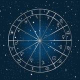 Fondo de la astrología stock de ilustración