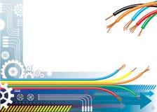 Fondo de la automatización de la industria stock de ilustración