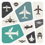 Fondo de la aviación Imagen de archivo libre de regalías