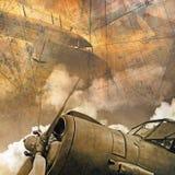 Fondo de la aviación stock de ilustración