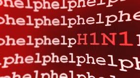 Fondo de la ayuda H1N1 Fotos de archivo