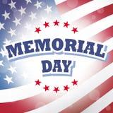 Fondo de la bandera americana del Memorial Day Foto de archivo