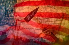 fondo de la bandera de los E.E.U.U., diseño para el trabajo DA Imagen de archivo libre de regalías