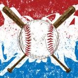 Fondo de la bandera del béisbol ilustración del vector