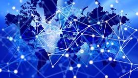 Fondo de la bandera del negocio de la tecnolog?a del mundo Globo conectado Google del mundo de la tecnología Ilustraci?n del vect libre illustration