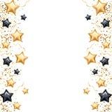 Fondo de la bandera de la estrella del negro del oro ilustración del vector