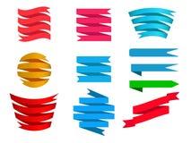 Fondo de la bandera Set Imagen de archivo