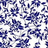 Fondo de la belleza con un loto azul libre illustration