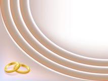 Fondo de la boda del satén con los anillos Imagen de archivo libre de regalías
