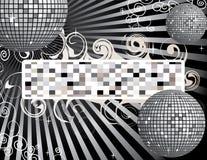Fondo de la bola del disco con el lugar para su texto Imagen de archivo libre de regalías