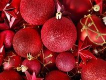 Fondo de la bola y de la estrella de la Navidad. Imagen de archivo libre de regalías