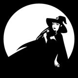 Fondo de la bruja de Halloween Imágenes de archivo libres de regalías