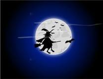 Fondo de la bruja de Halloween imagenes de archivo