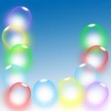Fondo de la burbuja stock de ilustración