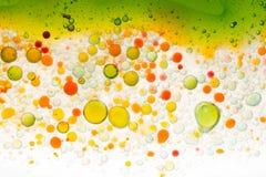 Fondo de la burbuja del agua y del aceite imágenes de archivo libres de regalías