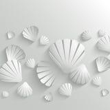 Fondo de la cáscara del mar stock de ilustración