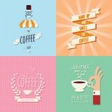 Fondo de la cafetería stock de ilustración