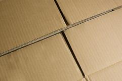 Fondo de la caja de cartón. Foto de archivo libre de regalías