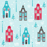 Fondo de la casa de la Navidad Imagen de archivo libre de regalías