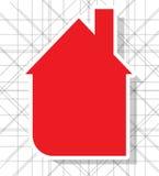 Fondo de la casa de las propiedades inmobiliarias del circuito de la ciudad Ilustración del Vector