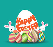 Fondo de la caza del huevo de Pascua para la tarjeta de felicitación, anuncio, promoción, cartel, aviador, blog, artículo libre illustration