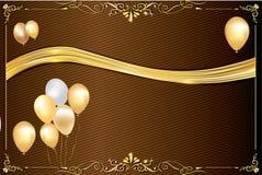 Fondo de la celebración con los globos Foto de archivo libre de regalías