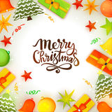 Fondo de la celebración de la Feliz Navidad Fotografía de archivo libre de regalías