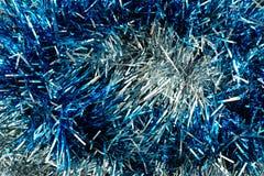 Fondo de la celebración del Año Nuevo de la malla azul y blanca Imágenes de archivo libres de regalías