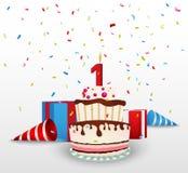 Fondo de la celebración del cumpleaños Imagenes de archivo
