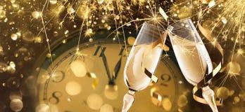 Fondo de la celebración del ` s Eve del Año Nuevo Fotografía de archivo libre de regalías