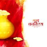 Fondo de la celebración feliz de Dhanteras y de Diwali ilustración del vector