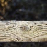 Fondo de la cerca texturizada de la madera Foto de archivo