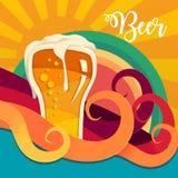 Fondo de la cerveza Imágenes de archivo libres de regalías