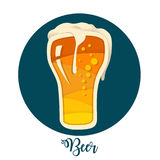 Fondo de la cerveza Foto de archivo libre de regalías