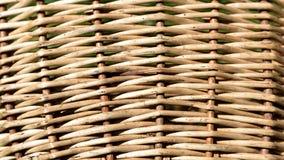fondo de la cesta de mimbre, Imagen de archivo