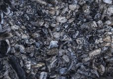 Fondo de la chimenea Carbón quemado Imagen de archivo libre de regalías