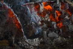 Fondo de la chimenea Textura del carbón quemado Imagen de archivo libre de regalías