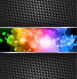 Fondo de la chispa de las estrellas con gradiente del arco iris Fotografía de archivo