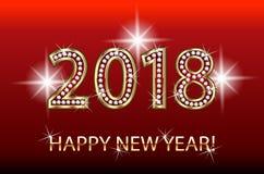 Fondo 2018 de la chispa del oro de la Feliz Año Nuevo Imagen de archivo