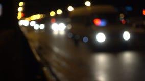Fondo de la ciudad de Bokeh del tráfico de coches metrajes