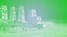 Fondo de la ciudad de la fantasía Foto de archivo libre de regalías